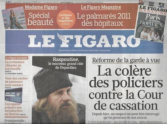 LE FIGARO n°20747 16&17/04/2011  Réforme garde à vue/ CB-phone/ Depardieu/ Etam/ Bangkok s'enfonce/ Croissance chinoise
