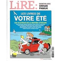 LIRE n°427 juillet-août 2014  Les livres de votre été/ Orhan Pamuk/ James Lee Burke/ Rentrée littéraire