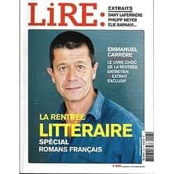 LIRE n°428 septembre 2014  Emmanuel Carrère/ Rentrée littéraire/ Patrick Deville/ Charles Péguy