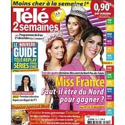 TELE 2 SEMAINES n°390 08/12/2018  Miss France: le Nord gagne souvent/ Spécial Noël/ Le show Gaultier/ Hallyday/ C.Rousseau