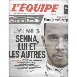 L'EQUIPE n°22953 26/05/2017  Lewis Hamilton/ Agassi/ Giro 2017/ Cammas/ OM/ Collazo/ Bourdais