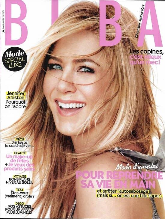 BIBA (Pocket) n°466 décembre 2018  Jennifer Aniston/ Reprendre sa vie en main/ Mode spécial luxe/ Christa Théret/ Hiver au soleil