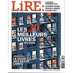 LIRE n°431 déc.2014-jan.2015  Les 20 meilleurs livres de l'année/ Tchekhov/ Beaux livres/ Rentrée littéraire