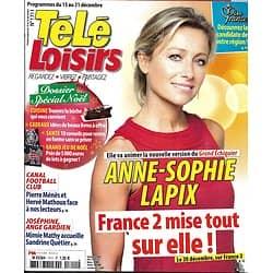 TELE LOISIRS n°1711 15/12/2018  Anne-Sophie Lapix/ Miss France 2019/ Spécial Noël/ Dc Comics/ Canal Football Club