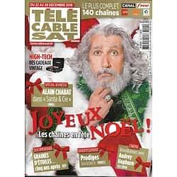 "TELECABLE SAT HEBDO n°1494 22/12/2018  Alain Chabat ""Santa & Cie""/ Audrey hepburn/ ""Miniaturiste""/ Martin Fourcade/ ""Prodiges"""