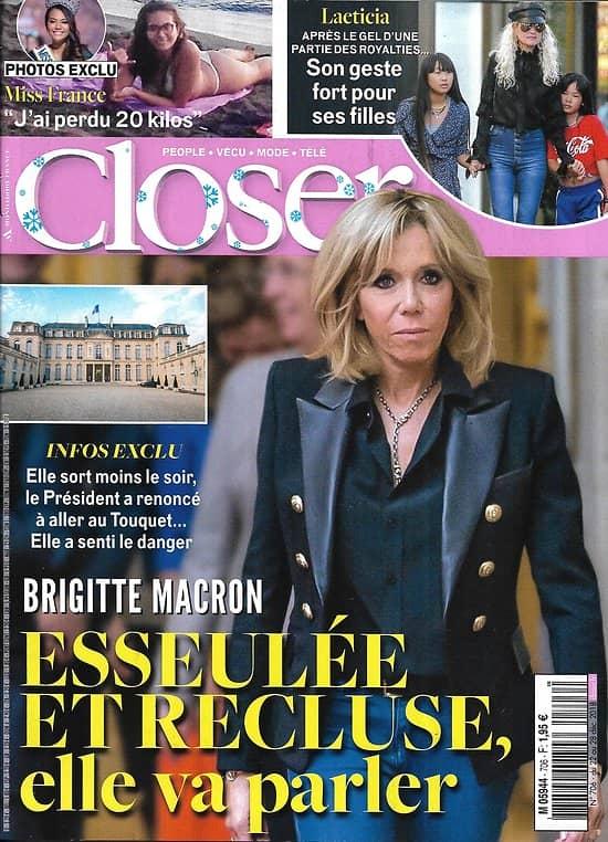 CLOSER n°706 22/12/2018  Brigitte Macron/ Miss France/ Laeticia Hallyday/ Chantal Goya/ V.Sanson/ Meghan Markle