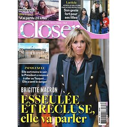 CLOSER n°706 22/12/2018  Brigitte Macron/ Miss France/ Laeticia Hallyday/ Chantal Goya/ V.Sanson/ Meghan Markle