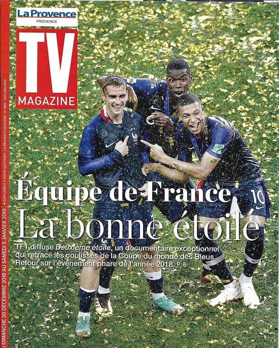 TV MAGAZINE 30/12/2018  Equipe de France/ Scènes de ménage/ The Bridge/ RMC Sport Games
