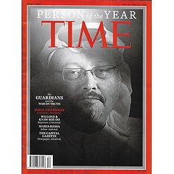 TIME VOL.192 n°27&28 24/12/2018  Person of the year/ The Guardians and the war on truth/ Khashooggi/ Trump & Mueller/ Markle