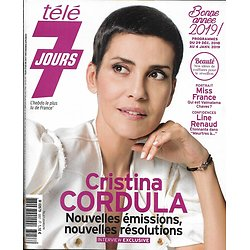 TELE 7 JOURS n°3057 29/12/2018  Cristina Cordula/ Miss France/ Laetitia Casta/ Nikos Aliagas/ Cherif/ Bernard yerlès