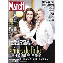 PARIS MATCH n°3633 26/12/2018  Coudray & Lemoine, reines de l'info/ Les Pôles en danger/ SNCF/ Touristes dans l'espace/ Macron au Tchad/ Yelena Noah