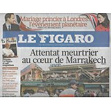 LE FIGARO n°20758 29/04/2011  Attentat à Marrakech/ Mariage Kate&William/ Syndicats/ Endeavour/ Fendi/ jean-Paul II