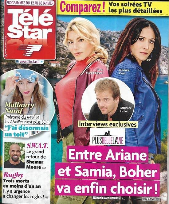 TELE STAR n°2206 12/01/2019  Plus belle la vie/ Shemar Moore/ Lorie Pester/ Mallaury Nataf/ Vitaa/ Fernandel