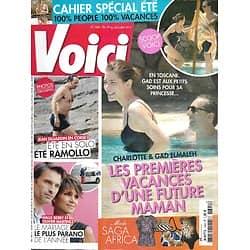 VOICI n°1341 19/07/2013  Charlotte Casiraghi & Gad Elmaleh/ Jean Dujardin/ Halle Berry & Martinez/ Monteith/ Johnny Depp