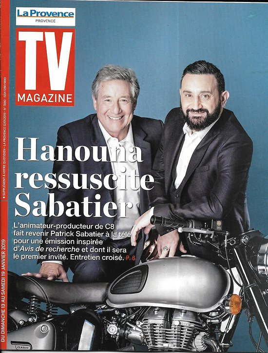 TV MAGAZINE 13/01/2019  Cyril Hanouna & Patrick Sabatier/ Deschamps/ Foucault & Combal (copy)