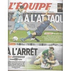 L'EQUIPE n°22865 27/02/2017  OM-PSG/ Tournoi des six nations/ Chris Waddle/ OL/ Tsonga/ Chapuis/ Ocon/ Etchebest