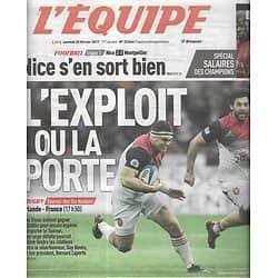 L'EQUIPE n°22864 25/02/2017  Rugby: Tournoi des Six Nations/ Falcao/ Clasicos/ Tolisso/ Pouille/ Ranieri/ Boonen