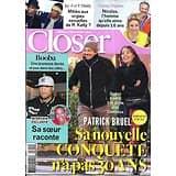 CLOSER n°709 12/01/2019  Patrick Bruel/ Booba/ Corine Masiero/ R. Kelly/ Olivier Minne/ Golden Globes