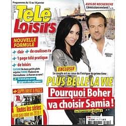 TELE LOISIRS n°1715 12/01/2019  Plus belle la vie/ Spécial Séries/ Animateurs-phare/ Patrick Sabatier/ Shemar Moore