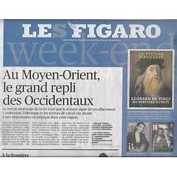 LE FIGARO n°23145 11/01/2019  Repli des Occidentaux au Moyen-Orient/ Trump & son mur/ Ghosn inculpé/ Renaissance de Saint-Barthélémy