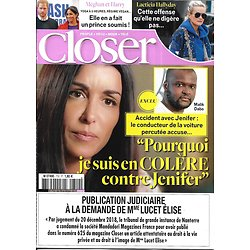 CLOSER n°710 19/01/2019  Jenifer/ Laeticia Hallyday/ Meghan&Harry/ Jeff Bezos/ Charlotte Casiraghi/ Lady Gaga/ Jennifer Lopez