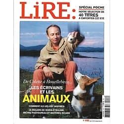 LIRE n°446 juin 2016  Les écrivains & les animaux/ Spécial Poche/ Michel Butor/ Tracy Chevalier/ James Joyce