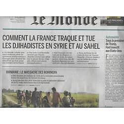 LE MONDE n°22388 05/01/2017  Traque des djihadistes/ Birmanie: massacre des Rohingya/ JL Choplin