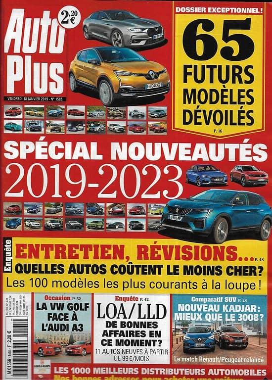 AUTO PLUS n°1585 18/01/2019  Spécial nouveautés 2019-2023/ Entretien, révisions: les autos les moins chères