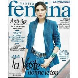 VERSION FEMINA n°878 28/01/2019  Vestes de printemps/ Daniel Auteuil/ Cures thermales/ Crêpes de chefs