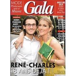 GALA n°1335 10/01/2019  René-Charles & Céline Dion/ Angelina Jolie & Brad Pitt/ Sylvester Stallone/ Keira Knightley/ Schumacher/ Jean-Marie Périer