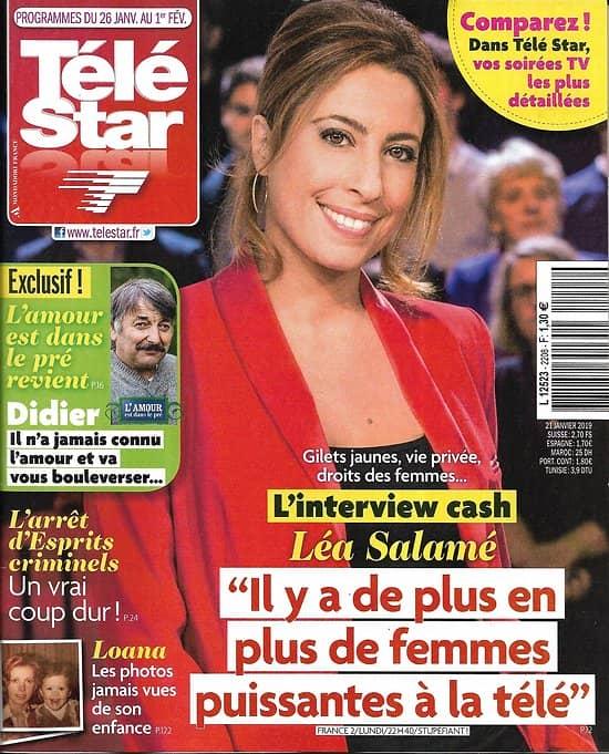TELE STAR n°2208 26/01/2019  Léa Salamé/ Lily-Rose Depp/ Loana/ Natacha Lindinger/ Stana Katic & Nathan Fillion/ Joan Baez