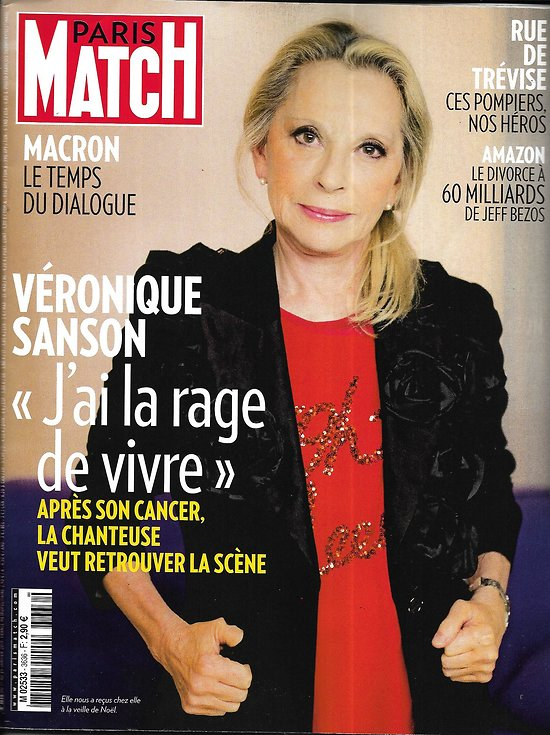 PARIS MATCH n°3636 17/01/2019  Véronique Sanson/ Macron, le dialogue/ Les héros de la rue de Trévise/ Bezos, le divorce/ Irina Shayk
