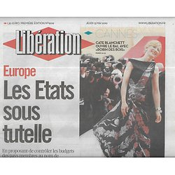 LIBERATION n°9019 13/05/2010  Europe sous tutelle/ Festival de Cannes/ Rapport Karachi/ Russell Crowe/ Léa Seydoux/ Oya Baydar/ Le Cléac'h