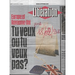 LIBERATION n°10806 18/02/2016 Brexit or not?/ Sarkozy & affaire Bygmalion/ 35h/ Bergson/ Ouganda/ Frauke Petry