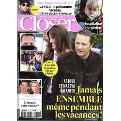 CLOSER n°711 26/01/2019  Arthur & Mareva Galanter/ Brad Pitt & Charlize Theron/ Renaud/ Chris Brown/ Pamela Anderson/ Brian May/ Michael Jackson