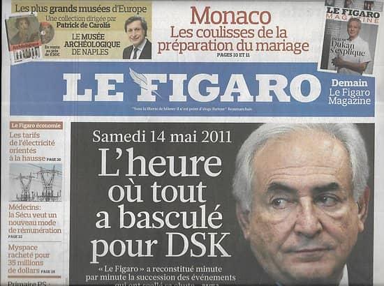 LE FIGARO n°20812 01/07/2011  La chute de DSK/ Mariage à Monaco/ Marché de l'électricité/ Reverso/ nouvelle Inde/ constitution Maroc