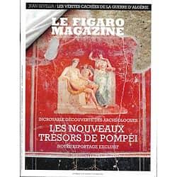 LE FIGARO MAGAZINE n°23080 16/10/2018  Les nouveaux trésors de Pompéi/ Paris Photo/ Au fil du zambèze/ Réquisitoire contre les éoliennes/ Escapade à Saint-Emilion