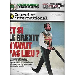 COURRIER INTERNATIONAL n°1460 25/10/2018  Brexit, une histoire sans fin/ Affaire Khashoggi/ La poésie, retour en force