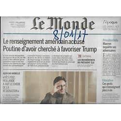 LE MONDE n°22391 08/01/2017  Collusion Trump-Poutine/ Morelle: la gauche en question/ Géopolitique: spécial Irak/ Santé sur internet