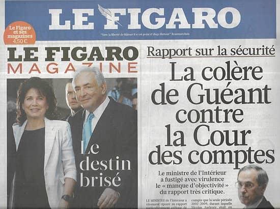 LE FIGARO n°20818 08/07/2011  Rapport sur la sécurité/ Affaire DSK/ Navette Atlantis/ Facebook credits/ N.Dessay