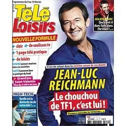 """TELE LOISIRS n°1719 09/02/2019  Jean-Luc Reichmann """"Léo Mattéï""""/ Julien Clerc/ """"C à vous""""/ Sharon Case/ Michèle bernier"""