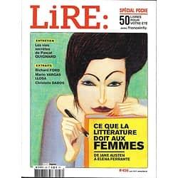 LIRE n°456 juin 2017  Ce que la Littérature doit aux femmes/ Pascal Quignard/ Spécial poche/ Mme de Staël/ Victoria Hislop