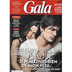 GALA n°1339 07/02/2019  Alain-Fabien Delon & Capucine Anav/ les Macron/ Franck Dubosc/ Meghan Markle/ Tina Turner/ Lingerie/ Saint-Valentin