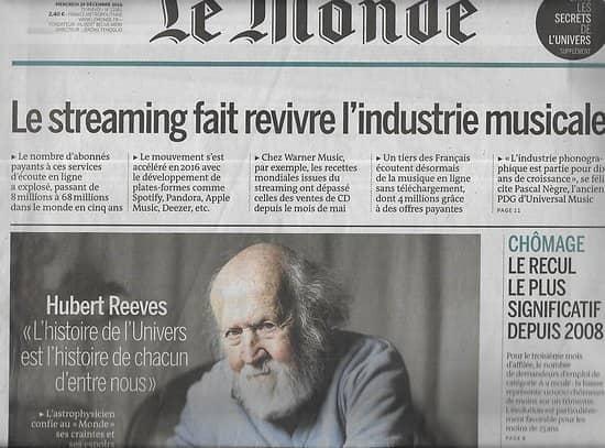 LE MONDE n°22383 30/12/2016  Malaise policier/ Recul de la banquise/ Michel Déon/ Bosnie/ Matisse/ Michael Stipe