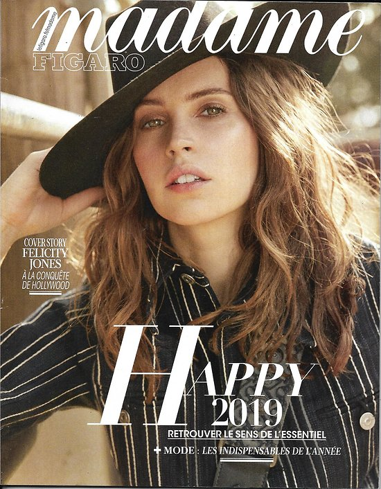 MADAME FIGARO n°23133 28/12/2018  Felicity Jones/ Gigi Hadid/ Richard Powers/ Tendances & indispensables 2019