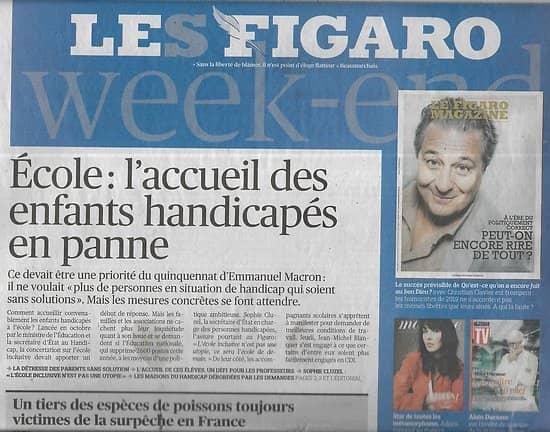LE FIGARO n°23163 02/02/2019  Accueil des handicapés à l'école/ Surpêche/ Macron Grand Débat/ BRP/ Chandeleur