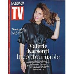 """TV MAGAZINE 24/02/2019 (Le Figaro)  Valérie Karsenti/ """"Thanksgiving""""/ Virginie Guilhaume/ Grossesse & pollution/ Echappées dans le Pacifique"""