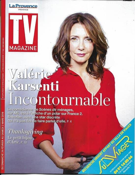 """TV MAGAZINE 24/02/2019 (La Provence)  Valérie Karsenti/ """"Thanksgiving""""/ Virginie Guilhaume/ Grossesse & pollution/ Echappées dans le Pacifique (copy)"""