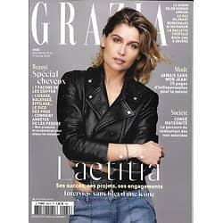 GRAZIA n°480 15/02/2019  Laetitia Casta/ Spécial cheveux/ Congé maternité/ Blue jean Armani/ Mochizuki/ Protoxyte d'azote