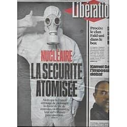 LIBERATION n°10819 04/03/2016  Sûreté nucléaire/ Kamel Daoud/ Procès Faïd/ Macron vs Valls/ M.Delormeau